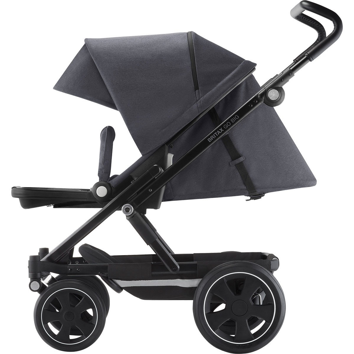britax go big 2 kinderwagen steel grey zum aktionspreis. Black Bedroom Furniture Sets. Home Design Ideas