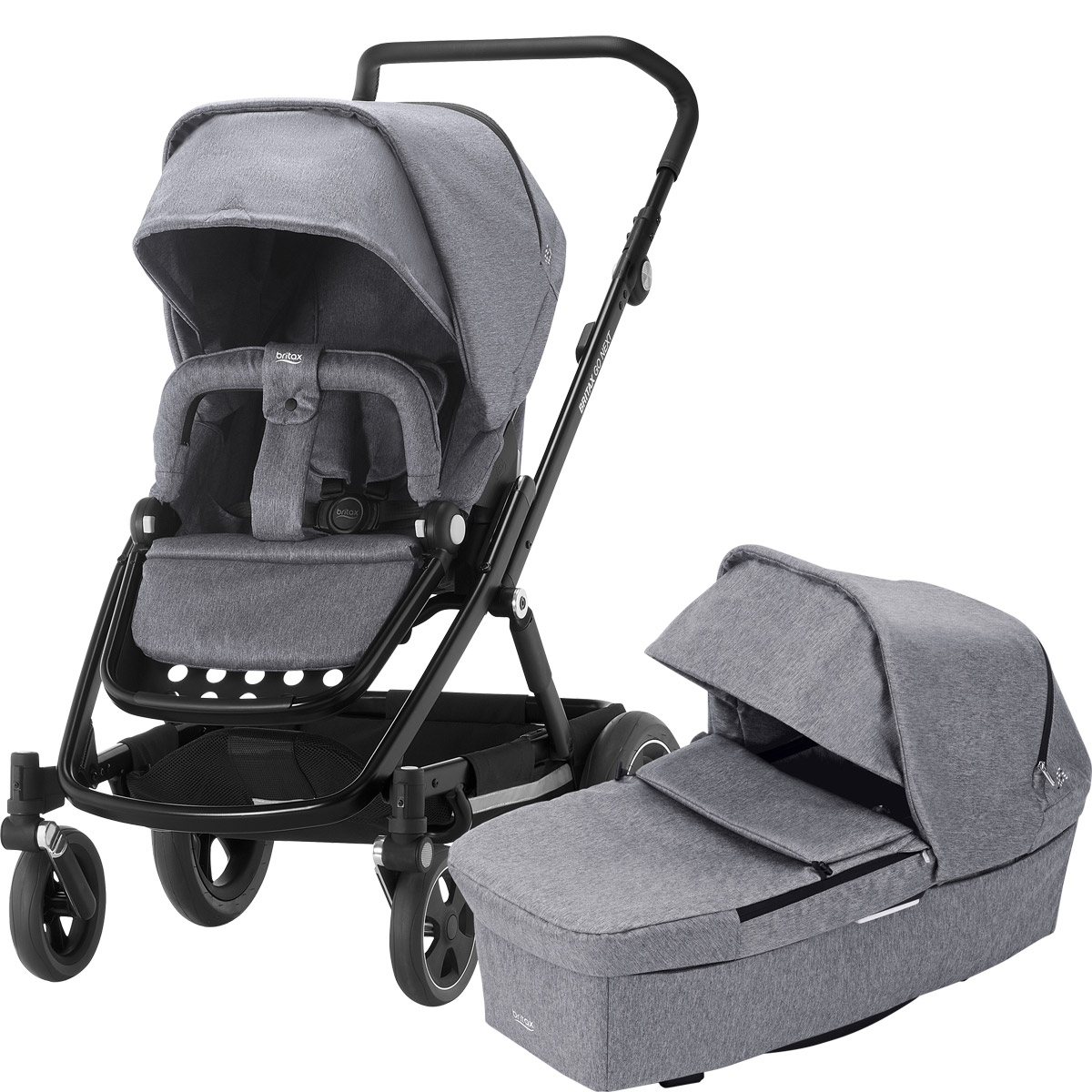britax go next 2 kinderwagen grey melange g nstig kaufen. Black Bedroom Furniture Sets. Home Design Ideas
