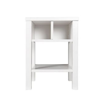 mit Nachttisch Basic Wood white wash / 13310734