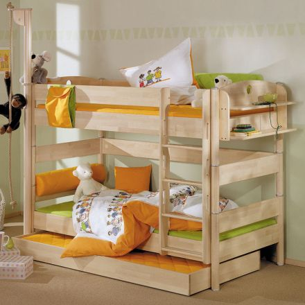 paidi fleximo etagenbett 155 cm birke hell. Black Bedroom Furniture Sets. Home Design Ideas