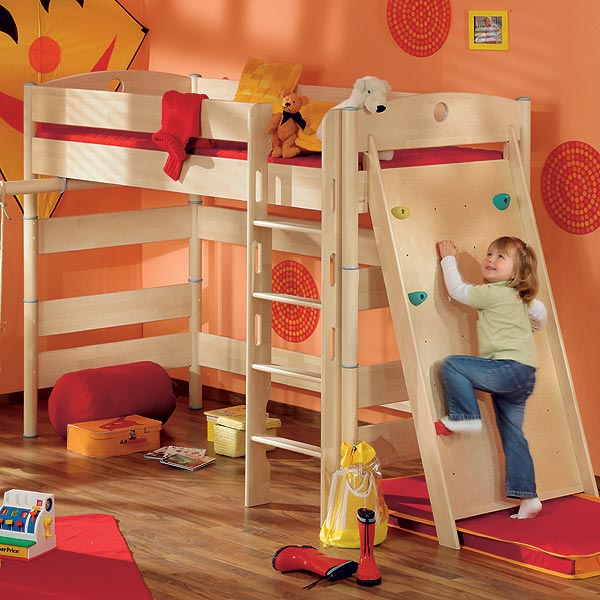 paidi fleximo spielbett 155 cm birke hell. Black Bedroom Furniture Sets. Home Design Ideas