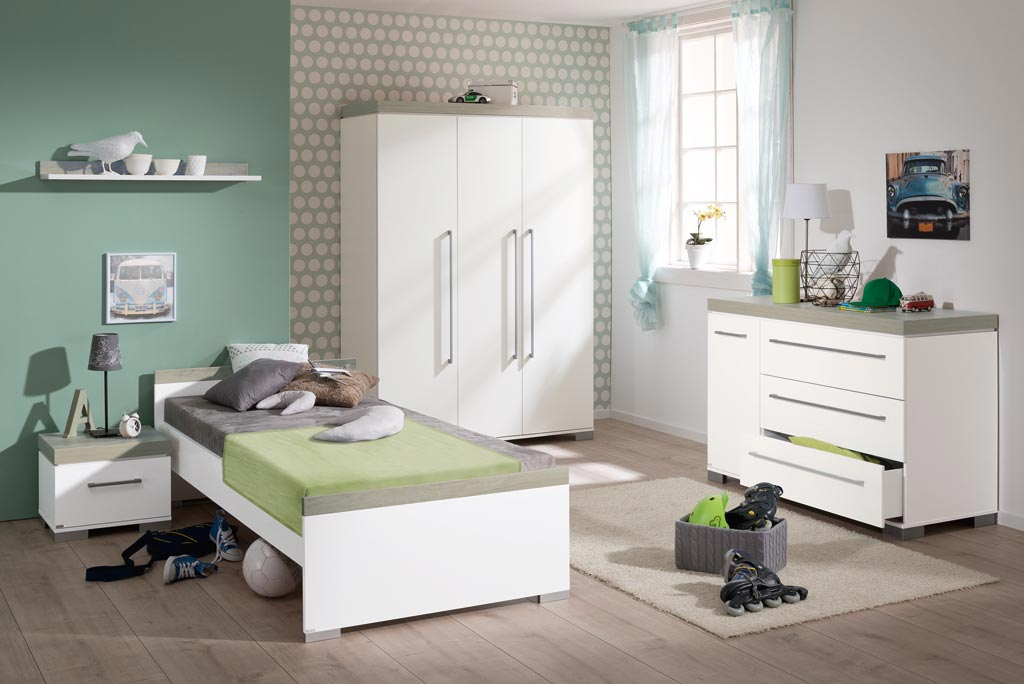 paidi kira jugendzimmer mit 3 t rigem schrank nautik. Black Bedroom Furniture Sets. Home Design Ideas
