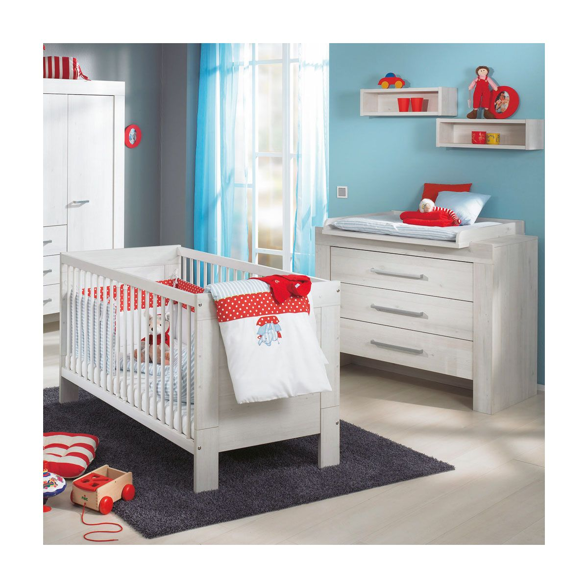 paidi mees sparset babybett wickelkommode. Black Bedroom Furniture Sets. Home Design Ideas