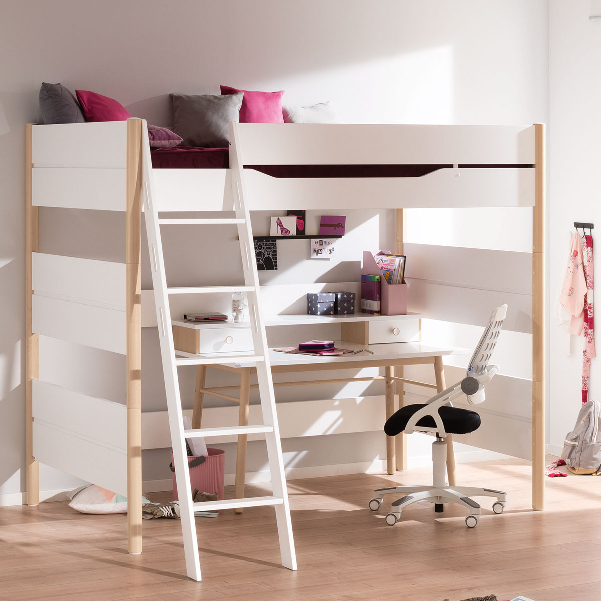 paidi ylvie hochbett in gro er auswahl bei babyonlineshop. Black Bedroom Furniture Sets. Home Design Ideas