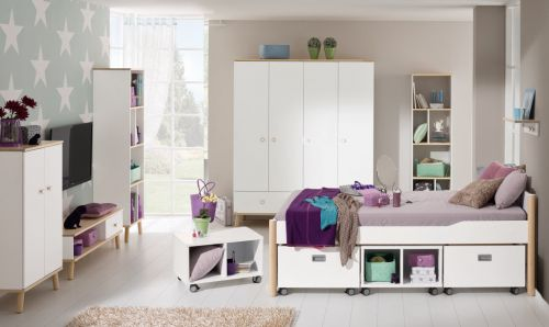 paidi ylvie jugendzimmer mit 4t rigem schrank. Black Bedroom Furniture Sets. Home Design Ideas