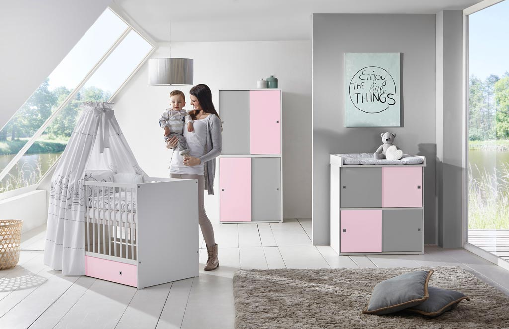 schardt clic kinderzimmer rosa grau zum toppreis. Black Bedroom Furniture Sets. Home Design Ideas