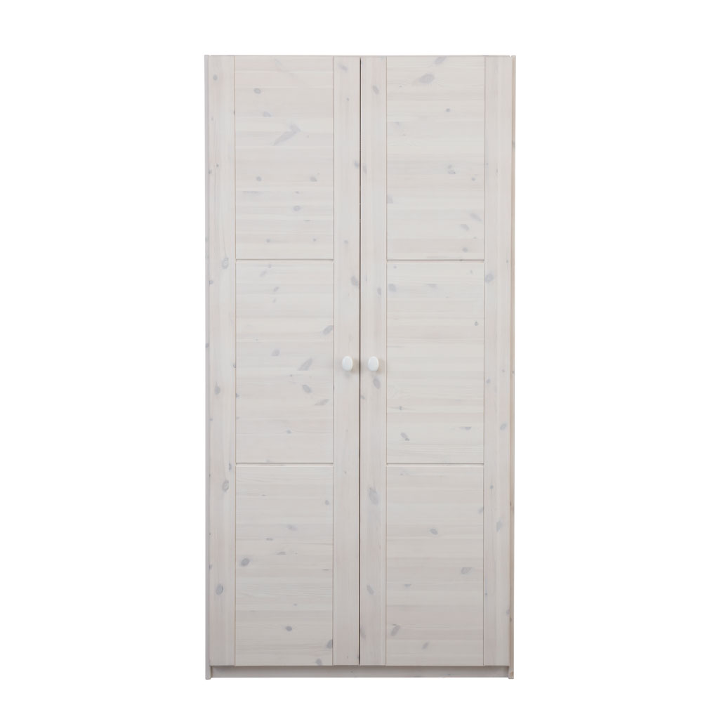 lifetime kleiderschrank 2 t rig 100 cm kiefer whitewash. Black Bedroom Furniture Sets. Home Design Ideas