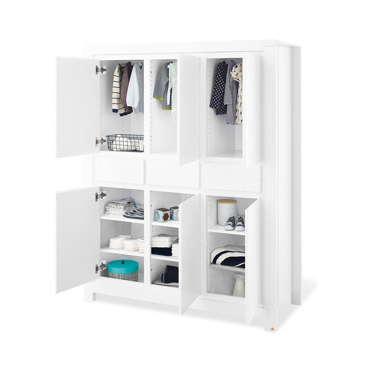pinolino milk kleiderschrank gro zum toppreis. Black Bedroom Furniture Sets. Home Design Ideas