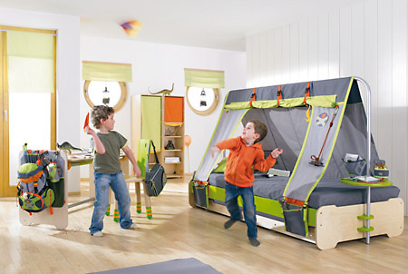 das haba bett terra kids expedition ist mit zeltdach. Black Bedroom Furniture Sets. Home Design Ideas