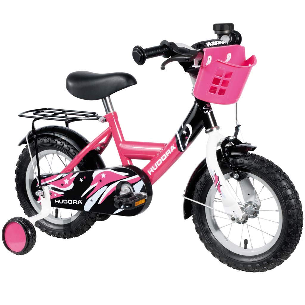 hudora kinderfahrrad 12 zoll pink zum aktionspreis. Black Bedroom Furniture Sets. Home Design Ideas