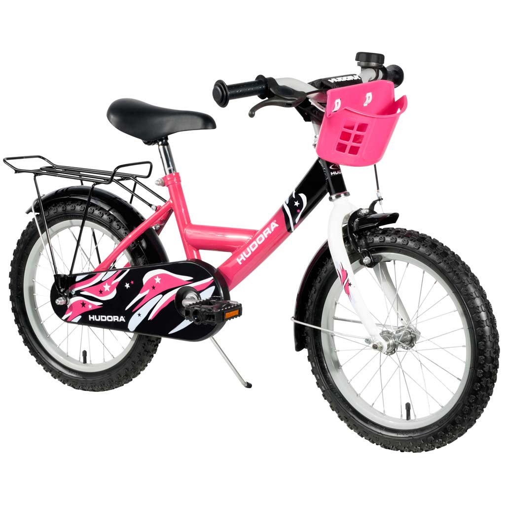 hudora kinderfahrrad 16 zoll pink zum aktionspreis. Black Bedroom Furniture Sets. Home Design Ideas