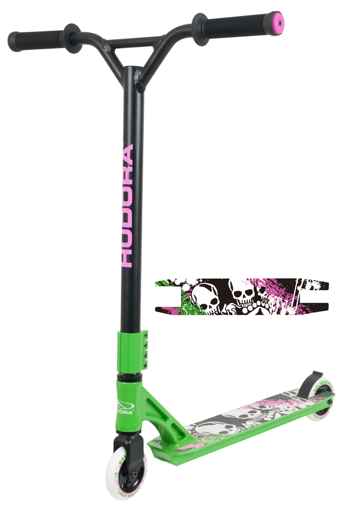 hudora stunt scooter xx 222 pink gr n zum aktionspreis. Black Bedroom Furniture Sets. Home Design Ideas