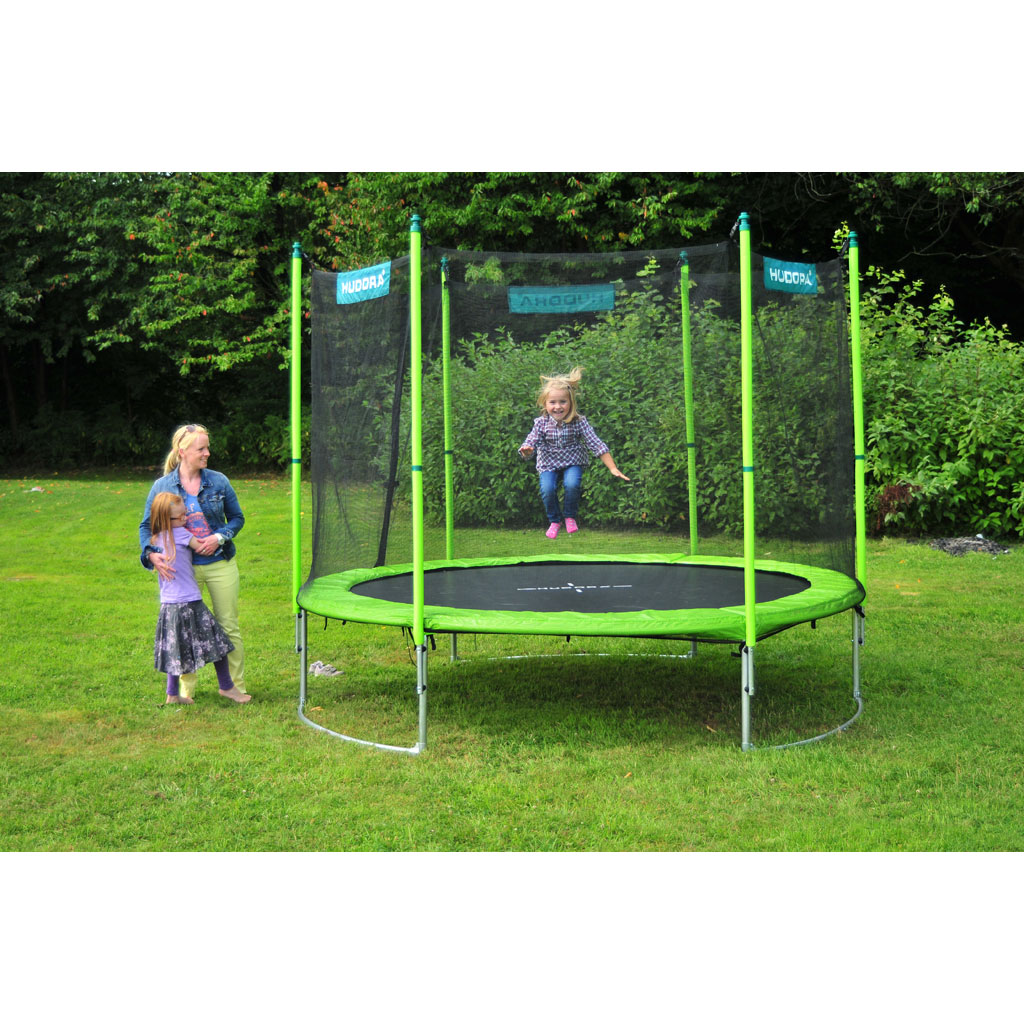 hudora family trampolin 300 cm zum aktionspreis. Black Bedroom Furniture Sets. Home Design Ideas