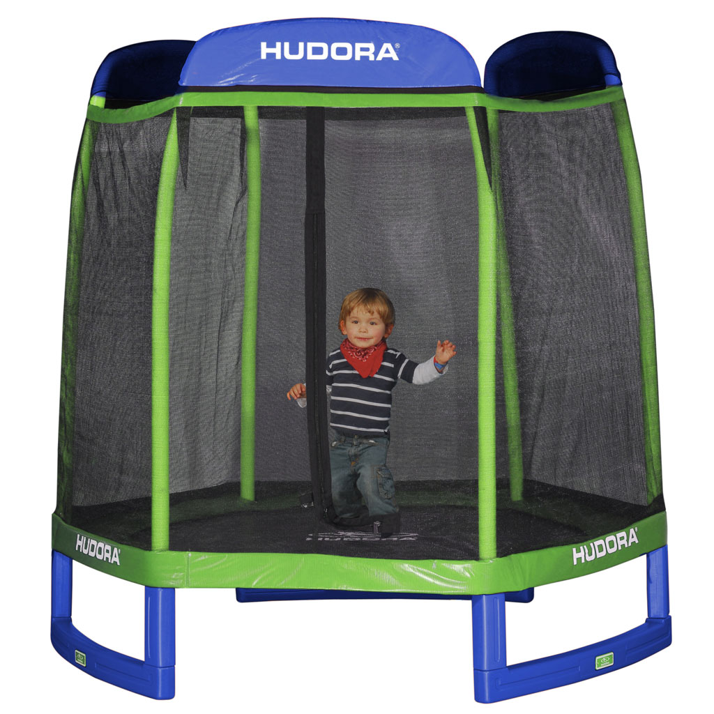 hudora hex trampolin blau zum aktionspreis. Black Bedroom Furniture Sets. Home Design Ideas