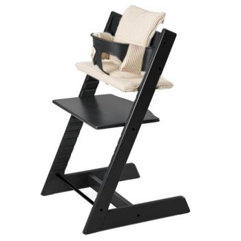 stokke hochstuhl tripp trapp soft pink mit babyset. Black Bedroom Furniture Sets. Home Design Ideas