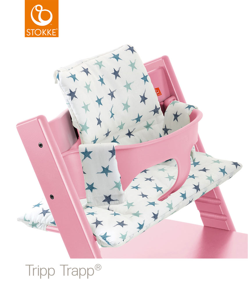 stokke tripp trapp soft pink mit babyset kissen. Black Bedroom Furniture Sets. Home Design Ideas
