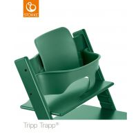 mit Tripp Trapp® Baby Set™ in Farbe Forest Green