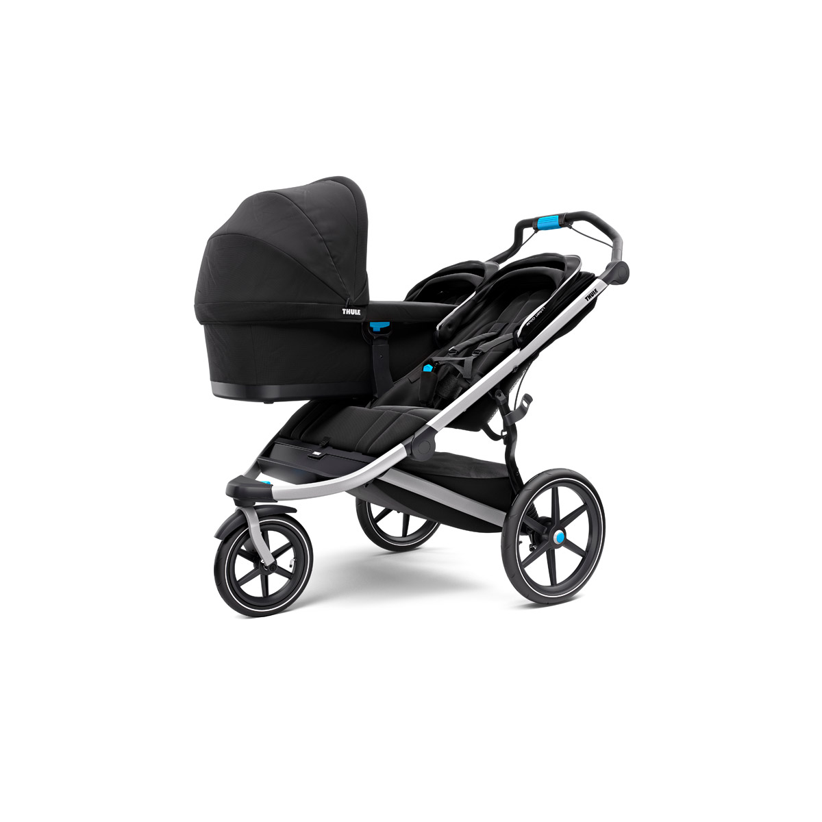 thule urban glide 2 double sportbuggy jet black aktionspreis. Black Bedroom Furniture Sets. Home Design Ideas