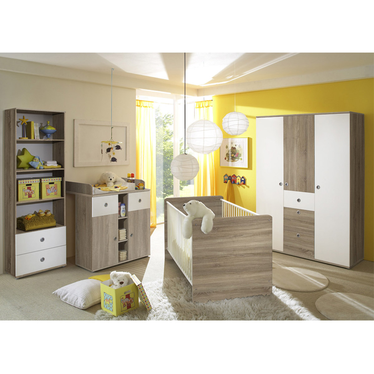 ticaa milu ii babyzimmer sonoma wei 4 teilig portofrei. Black Bedroom Furniture Sets. Home Design Ideas