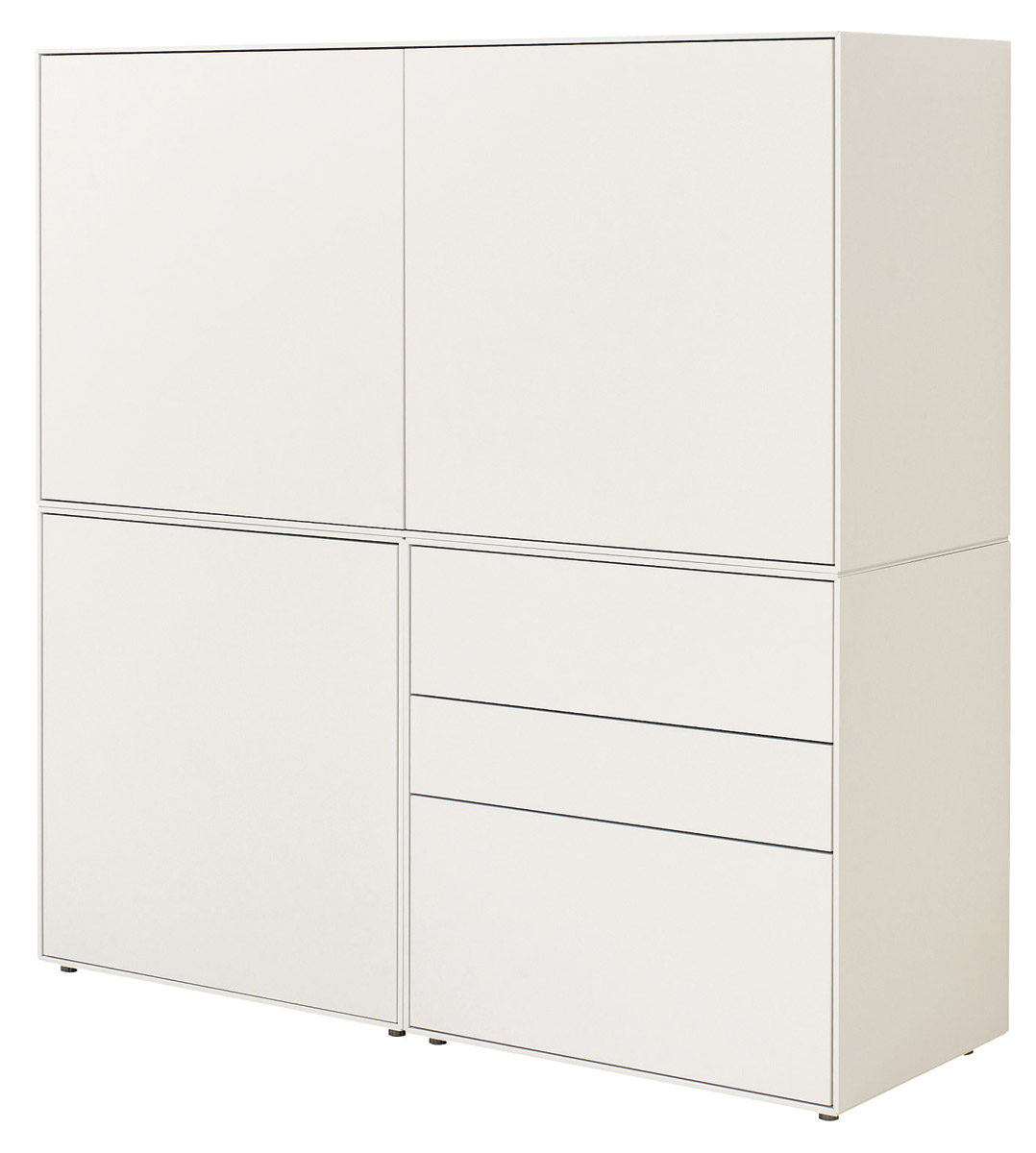 Now By Hülsta Easy Highboard 128x128x45 Cm