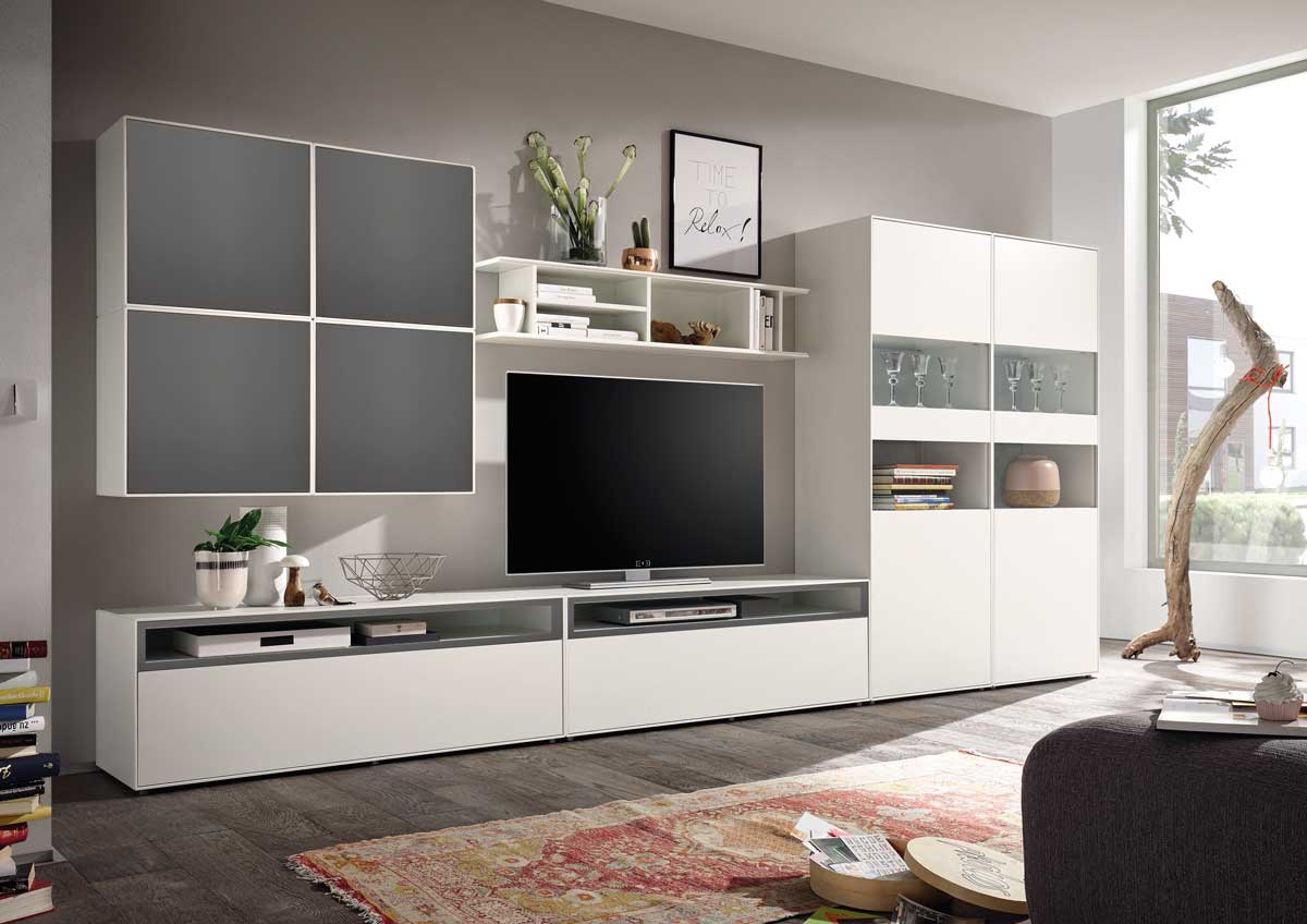 wohnwand lack elegant mbel weirauch oldenburg mbel az. Black Bedroom Furniture Sets. Home Design Ideas