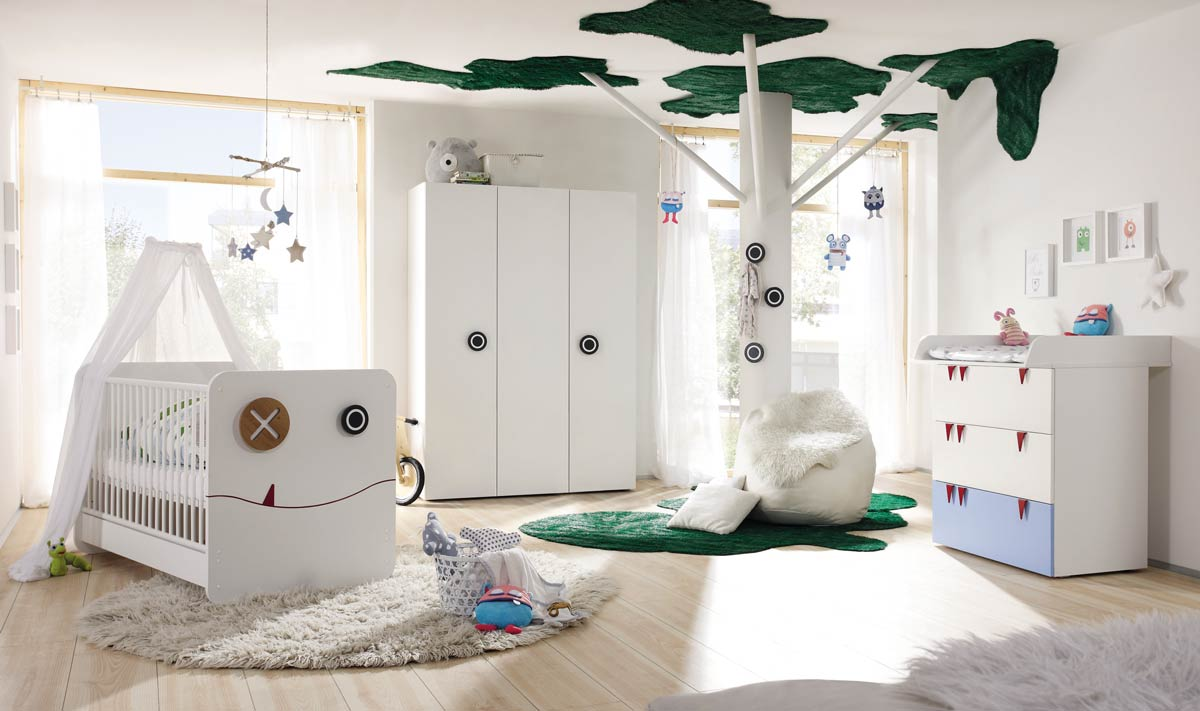 h lsta now minimo kinderzimmer 3 t riger schrank wei blau. Black Bedroom Furniture Sets. Home Design Ideas