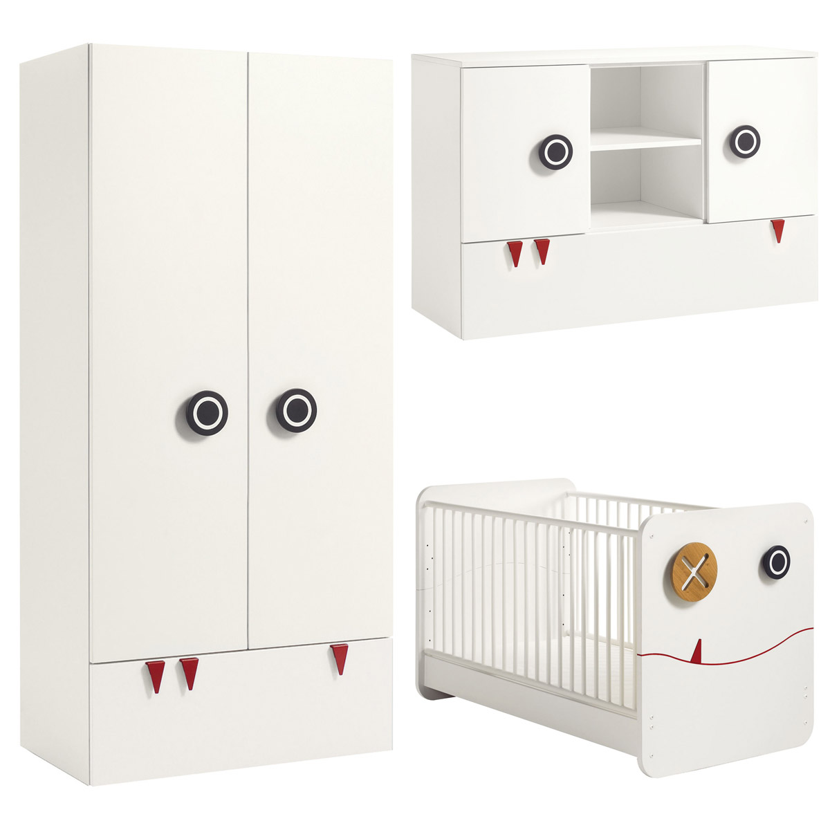 h lsta now minimo kinderzimmer 2t rig breit schneewei. Black Bedroom Furniture Sets. Home Design Ideas