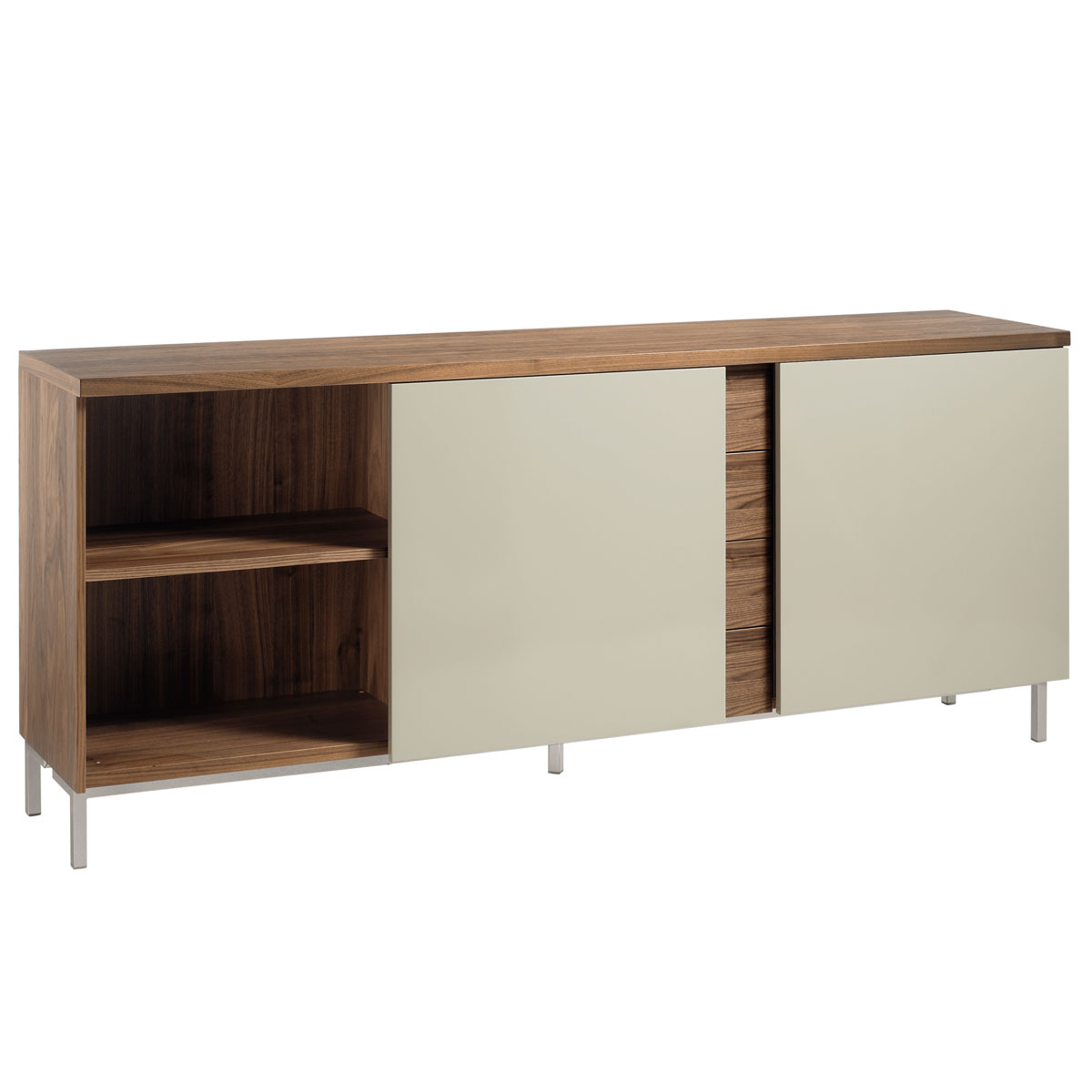 now time by h lsta sideboard mit schiebet ren. Black Bedroom Furniture Sets. Home Design Ideas