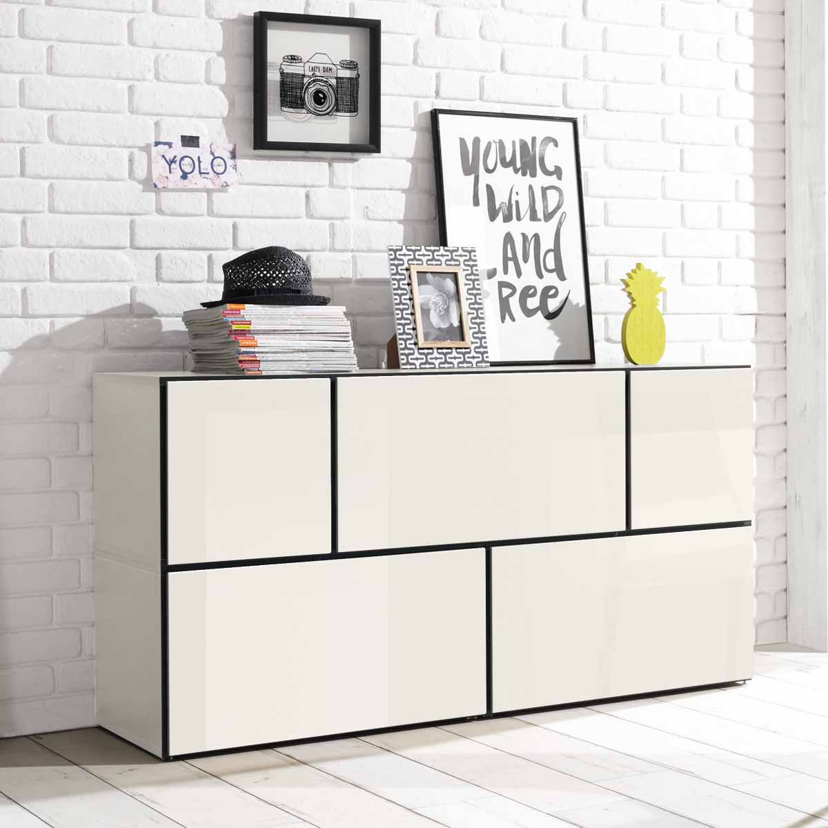 h lsta now to go kombination 3 mit 5 boxen schneewei. Black Bedroom Furniture Sets. Home Design Ideas