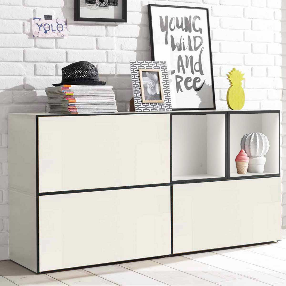 h lsta now to go kombination 1 mit 5 boxen schneewei. Black Bedroom Furniture Sets. Home Design Ideas
