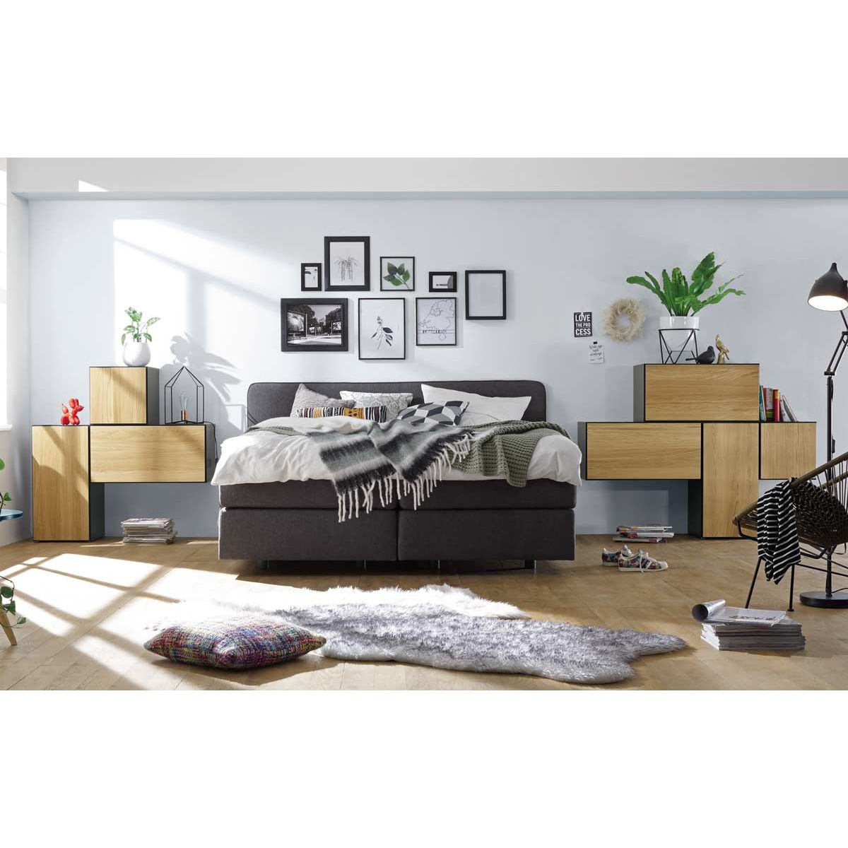 h lsta now to go kombination 1 mit 7 boxen grau natur. Black Bedroom Furniture Sets. Home Design Ideas