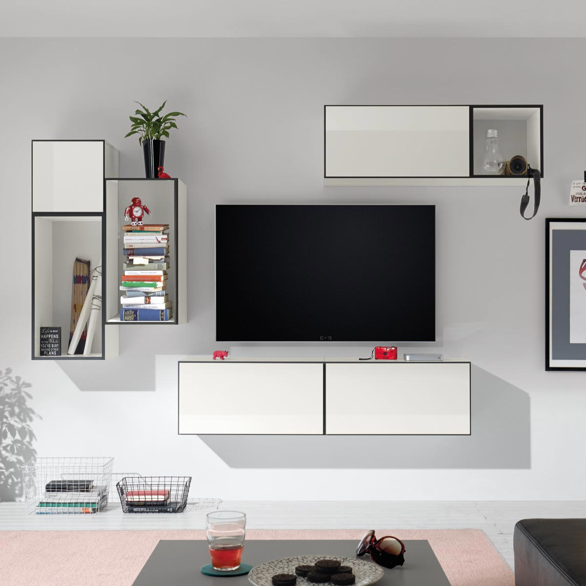 h lsta now to go kombination 2 mit 7 boxen schneewei. Black Bedroom Furniture Sets. Home Design Ideas