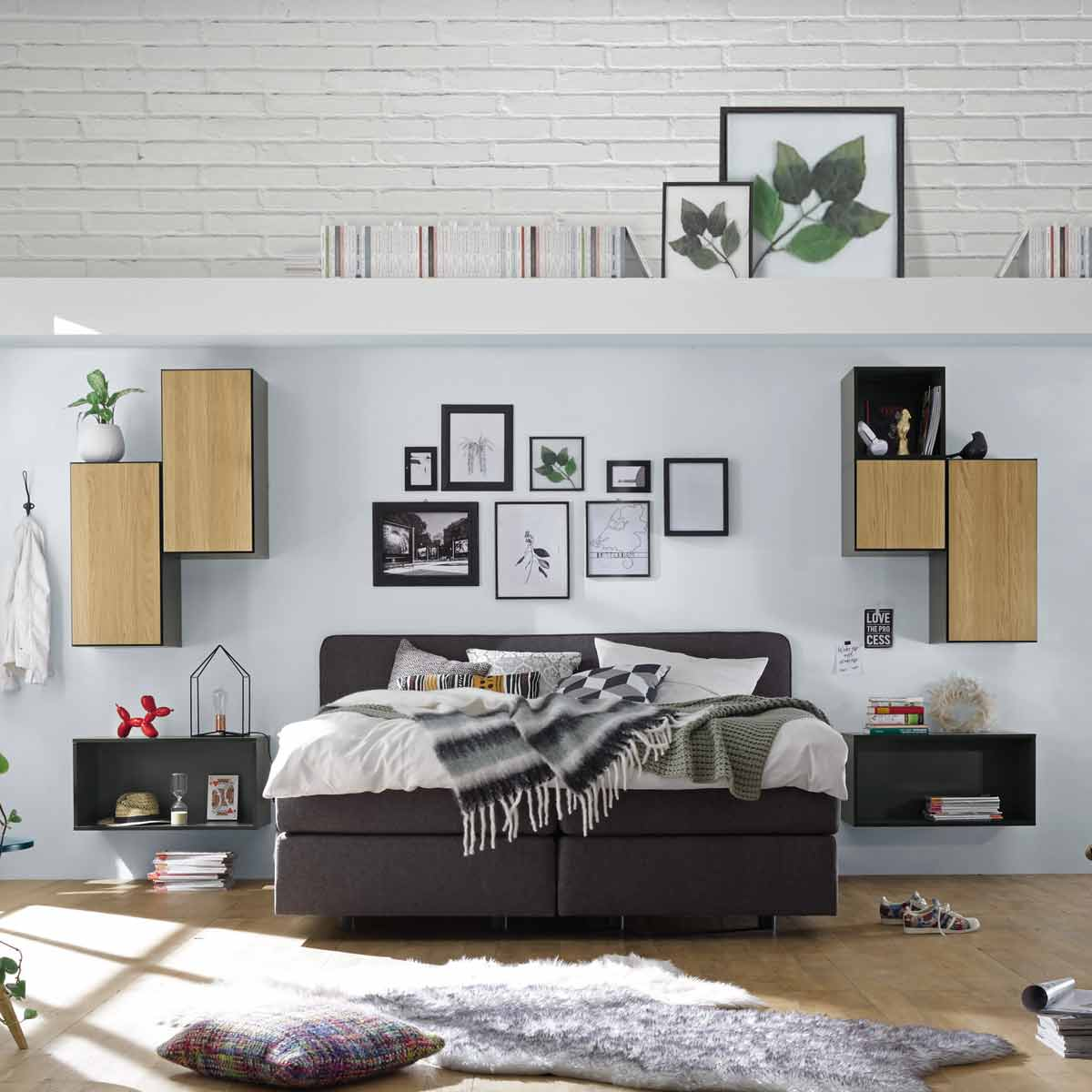 h lsta now to go kombination 2 mit 7 boxen grau natur. Black Bedroom Furniture Sets. Home Design Ideas