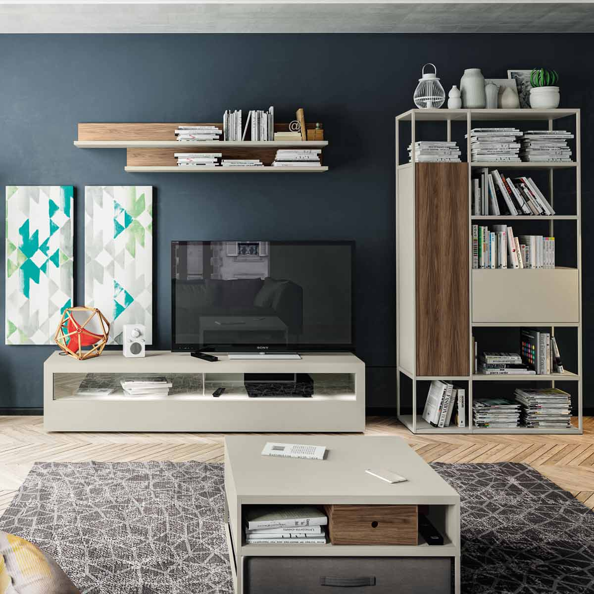 now vision by h lsta kombination 5 213x356x52. Black Bedroom Furniture Sets. Home Design Ideas