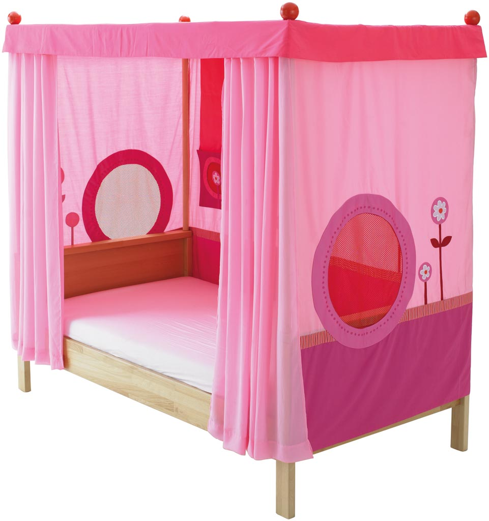 haba himmelbett matti in rosa zum aktionspreis. Black Bedroom Furniture Sets. Home Design Ideas