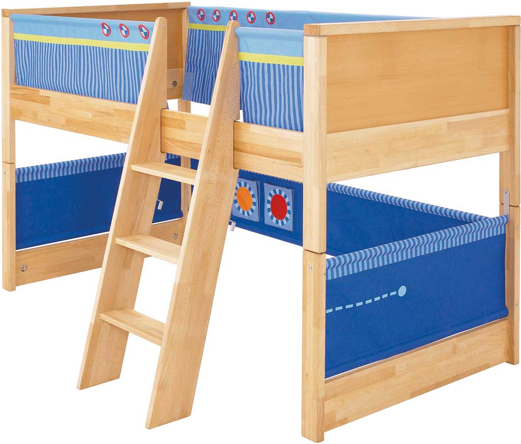 haba spielbett matti in blau zum aktionspreis. Black Bedroom Furniture Sets. Home Design Ideas