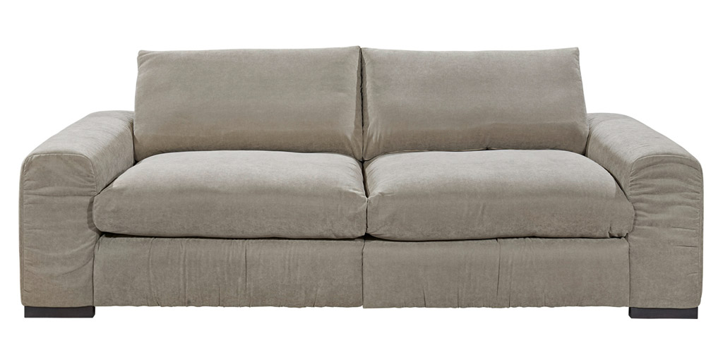 New look barcelona megasofa 2 teilig taupe zum aktionspreis for Sofa 2 teilig