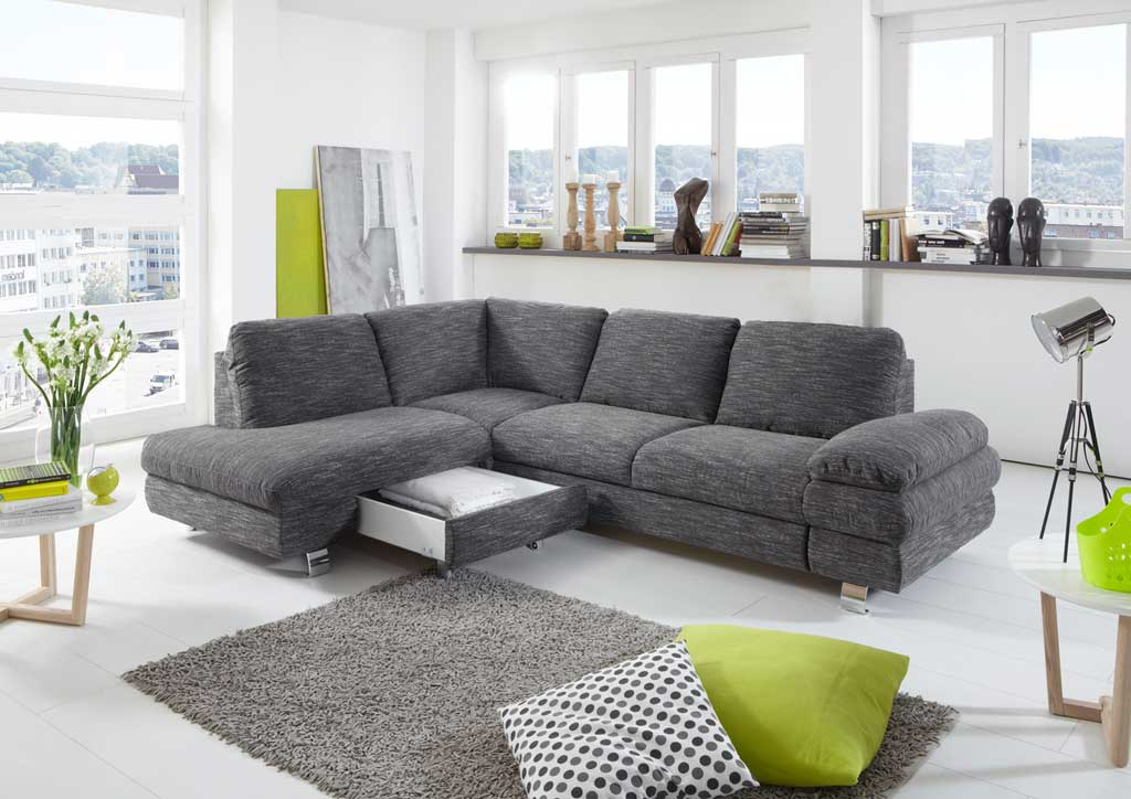 new look manhattan sofa anthrazit grau mit schlaffunktion. Black Bedroom Furniture Sets. Home Design Ideas