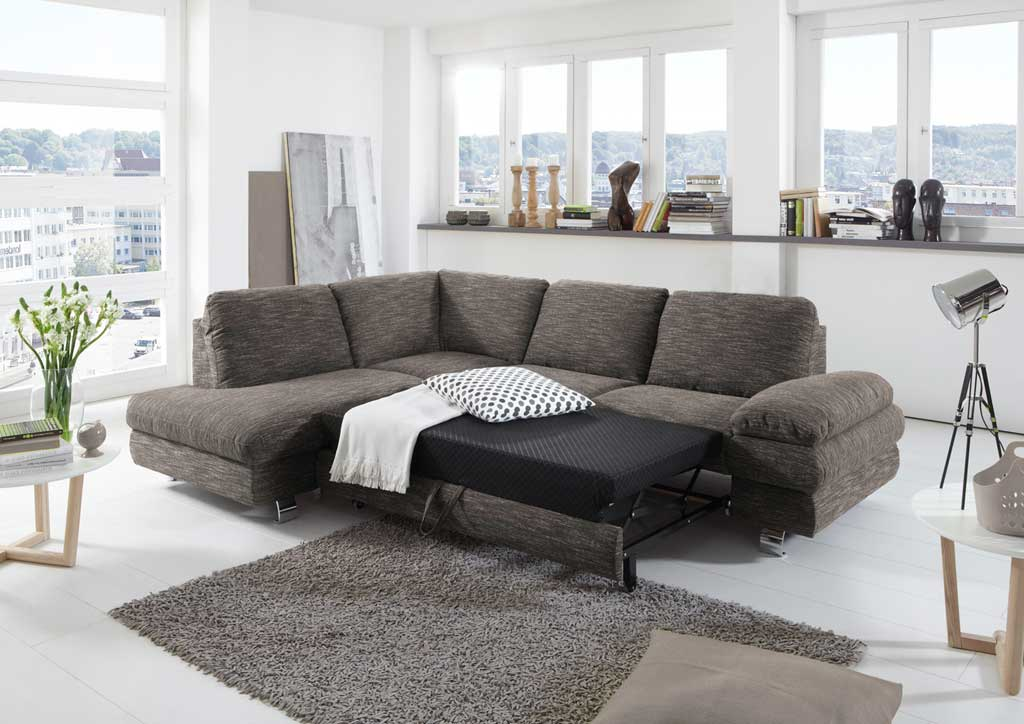 new look manhattan sofa beige braun mit schlaffunktion. Black Bedroom Furniture Sets. Home Design Ideas