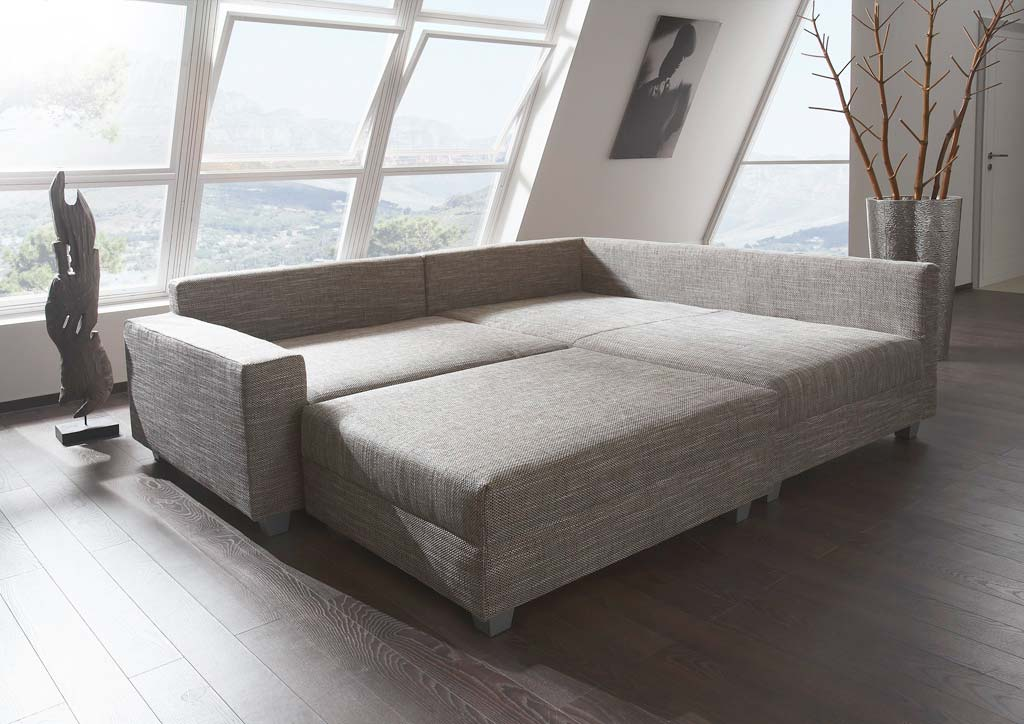 new look silver sofa inklusive hocker in sand beige. Black Bedroom Furniture Sets. Home Design Ideas