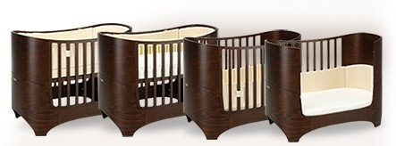 leander baby junior bett walnuss online kaufen. Black Bedroom Furniture Sets. Home Design Ideas