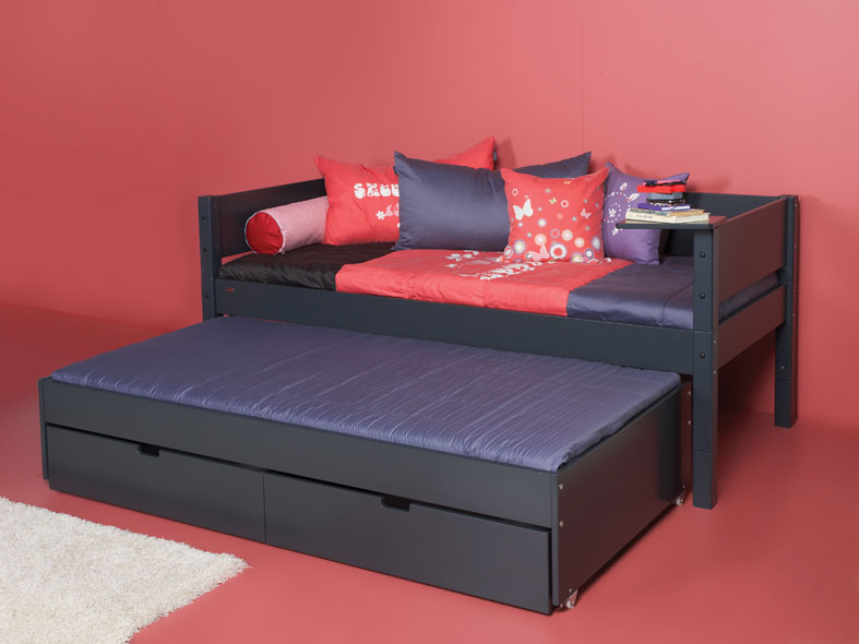 manis h einzelbett luna 90x200 cm einfarbig. Black Bedroom Furniture Sets. Home Design Ideas
