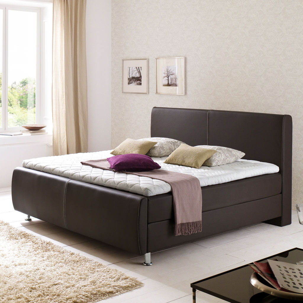 meise m bel amadeo boxspringbett braun n hte beige. Black Bedroom Furniture Sets. Home Design Ideas