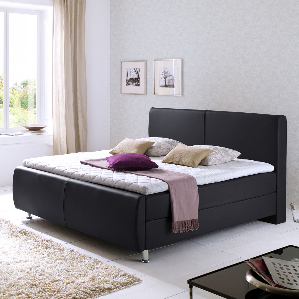 meise m bel amadeo boxspringbett schwarz n hte schwarz. Black Bedroom Furniture Sets. Home Design Ideas