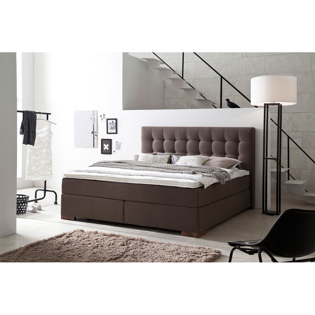 meise m bel areo boxspringbett braun versandkostenfrei. Black Bedroom Furniture Sets. Home Design Ideas