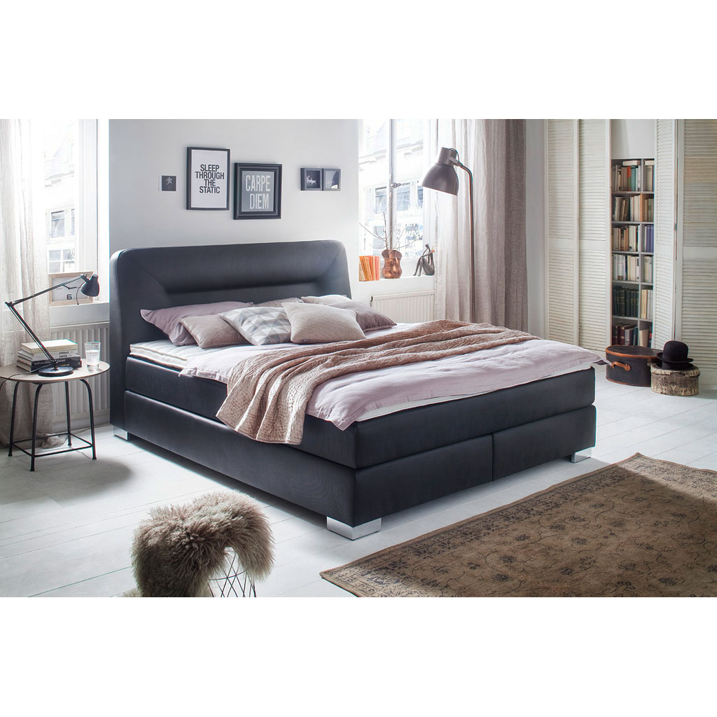 meise m bel cocktail boxspringbett schwarz versandkostenfrei. Black Bedroom Furniture Sets. Home Design Ideas