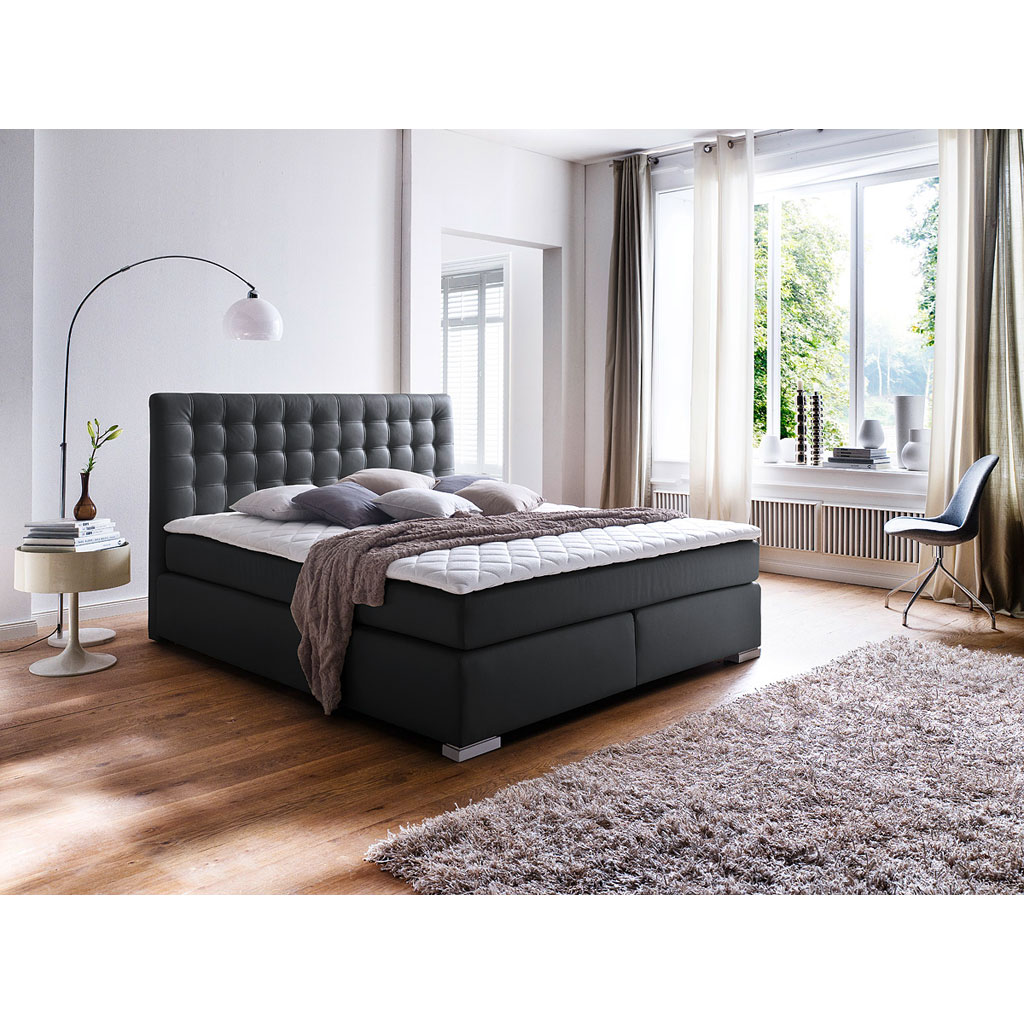 meise m bel isa boxspringbett schwarz versandkostenfrei. Black Bedroom Furniture Sets. Home Design Ideas