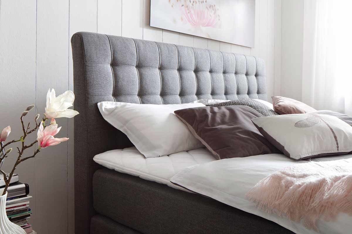 meise m bel lenno boxspringbett anthrazit gesteppt. Black Bedroom Furniture Sets. Home Design Ideas
