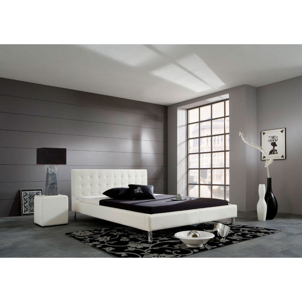 meise m bel joe polsterbett wei portofrei. Black Bedroom Furniture Sets. Home Design Ideas