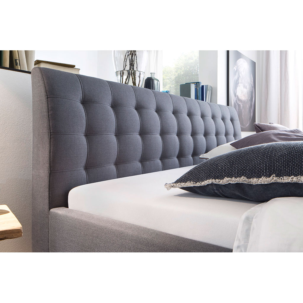 polsterbett grau 140x200 bett grau x on boxspring komfort. Black Bedroom Furniture Sets. Home Design Ideas